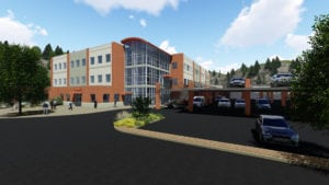 Architect's rendering of the new facility. Courtesy Capital Growth Medvest.